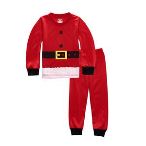 Новый хлопок Детские Рождественские Пижамы Детская одежда мальчиков и девочек Пижамы детские Пижамы Детская одежда Set Pajama наборы