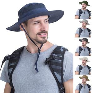 Outdoor Sun Protection Bucket hats for women Men Summer Big Wide Brim Hiking Fishing Travel Fisherman Basin Sun Caps gorras NEW