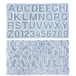 Small DIY Silicone Resin Mold for Letters Letter Mold Alphabet & Number Silicone Molds Number Alphabet Jewelry Keychain Casting Mold SN1832