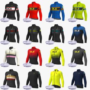 ALE équipe Hommes Hiver Cyclisme Toison thermique jersey à manches longues Vêtements de vélo de montagne rapide Hauts sec S091501