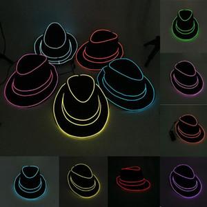 Широкие шляпы Brim Стильный бар Crazy Sale Hat 2021 Унисекс Летняя Неоновая Ночная жизнь Света Бейсболка Партия Одевание Копс Мужчины Женщины