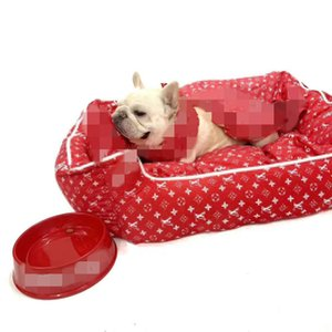 Klassische Briefhundebetten voller Blüte Pet Mats Mode-Welpen Katzen Pads weiche Wärmer Kennels Teddy Schnauzer Sleeping Startseite