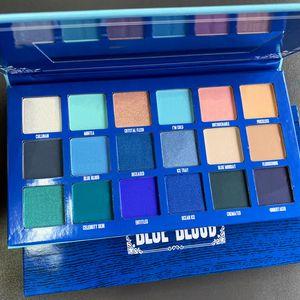Işıltılı Matte far Five Star Kozmetik DHL ücretsiz gönderim yukarı Makyaj far paleti Blue Blood 18 Renkler göz farı makyaj