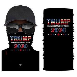 Trump Biden Cycling Mask Face Shield Bandanas Scarves American Flag Outdoor Balaclava Scarf Turban Sunscreen Election Riding Cap HHB1649