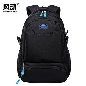 New Mens Backpack High School and College Students Schoolbag Boys Fashion Backpack Waterproof Wear-Resistant Laptop Computer Bag