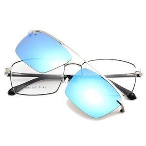 선글라스 Cubojue 자기 안경 프레임 남성 클립 편광 된 남성 미러 어안에 맞는 맞는