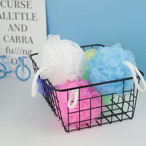 Красочные душ Губка Mesh Pouf Spa Ванна Душ Поломоечные шарик Красочный ванны Губки мертвые клетки кожи для удаления DHC1464
