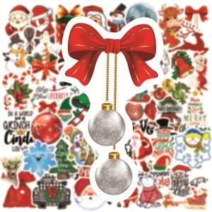 DHL شحن عيد الميلاد ملصق عيد الميلاد سانتا كلوز يلوحون الأيل عيد الميلاد ملصق السيارة الخلفي الزجاج ممسحة ملصقات 1SET = 50PCS HHF1725