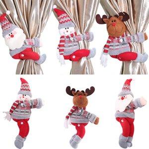 Noel Süsleri Noel Bebekler Noel ağacı Perde Perde Toka Tatil Pencere Sahne Düzeni Karikatür Doll Toka AHC2115