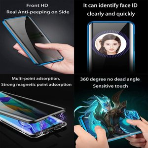 Magnetic Adsorption Metal bumper case Anti Spy Privacy Tempered Glass Screen Protector For Samsung Galaxy A81 NOTE 10 LITE A91 S10 Lite
