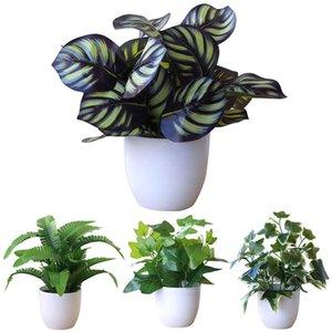 Artificielle Feuillage Party Plante en pot Bonsai Market Mall Bureau Bureau Hôtel Jardin Décor Décoration c0924