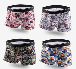 Underpants Cotton Breathable Boxers Mens Underwear Fashion Casual Print Mens Sexy New Underpants Comfortable Soft Mens