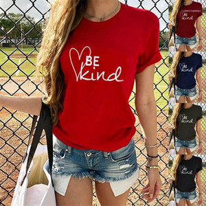 Short Sleeve Pullover Shirts Casual Womens Designer Top Be Kind Letter Womens Summer Designer Tshirts Round Neck