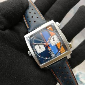 2020 nuovi 10 colori Monaco 24 calibro 39 tag di orologi meccanici quadrati di progettazione quarzo popolari sport CAW uomini della vigilanza orologio da polso
