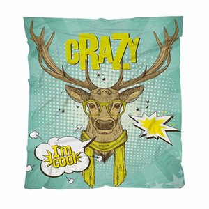 Luxury Super Soft Throw Blanket Antlers Trendy Deer Winter Warm Throw Blanket For Bed Sofa Soft Solid Blankets Bedspread Plush
