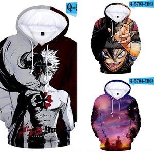 X1372 children's clothing fashion sweater wear Children's Digital black four-leaf clover printing digital hooded sweater