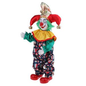Clown drôle 15inch Porcelain Doll Joker, Cadeau de Noël pour lui ou Petite amie, Décoration Halloween Accueil Table Bureau Top Ornements