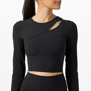 women good quality yoga gym long sleeve top fittness workout clothing sport