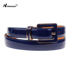 Himunu Moda Couro Belt por Mulheres Pin Buckle couro do couro Jeans Cintos Cintos cintura Feminino
