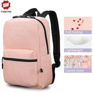 Tigernu New Antifouling College School Backpacks Fit for 14 inch laptop Fashion Bags Female Bookbag Bag Mochila for Girls Women