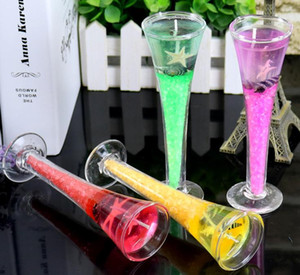 (4 PC) DIY goblet romantic holiday party candle design and design craft creative gifts