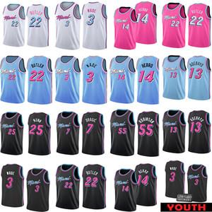 MiamiSıcaklık22 Dwayne Dwyane Wade 3 Jimmy Tyler Butler Herro Basketbol Jersey Goran Dragic Bam Adebayo Duncan Kendrick Robinson Nunn