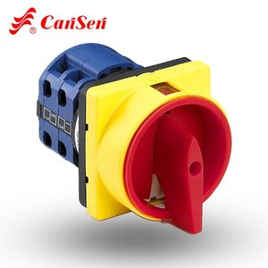 Lucchetto Rotary Cam Switch 20A e 25A OFF-ON 0-1 switch a 4 poli Disconnect, isolatore passare Cansen LW26GS CA10 48x48mm 64x64mm