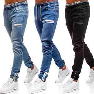 Femininos VICABO moda jeans 2020 calças de brim ocasionais sexy para os homens negros Pants Blue Hole dos homens com bolso ropa de hombre 2020 #W