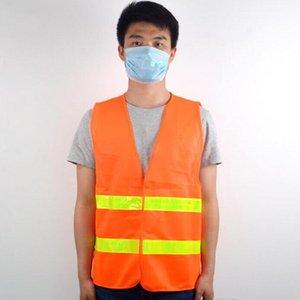 안전 조끼 높은 가시성 반사 스트라이프 트래픽 조끼 건설 교통 위생 근로자 반사 의류 EWC2765
