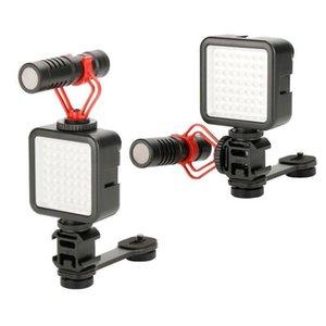 Caméra Extension Support 3 Chaussures froides Mont Gimbal Universal Mic Support Lumière Support de plaque Adaptateur vidéo Prise de vue pour Zhiyun lisse 4 / lisse