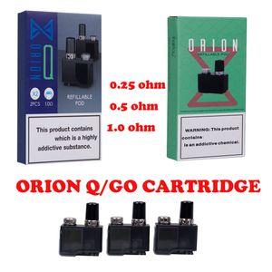 Original Lostvape Orion Cartridge Replacement Refillable 2ml Cartridges Tank ORION GO Q CARTRIDGE 0.25ohm 0.5ohm 1.0ohm Orion DNA Go Pod