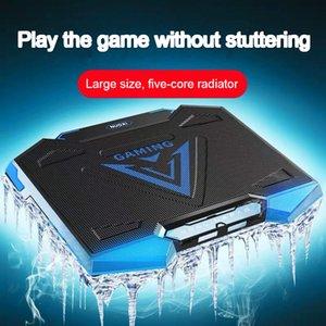 18 pouces Gaming Laptop Cooler Fan Five LED Écran double USB Port 1400 RPM Laptop Cooling Pad avec la fonction de support pour