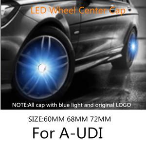 Badge Emblem Hub Lampe 4pcs voiture Illumination roue centrale flottante Caps LED Couverture éclairage Flash Auto Fit For A-Udi