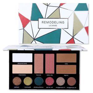 UCANBE Eye Shadow Palette Makeup Set 6 Color Eyeshadow+2 Bronzer Contour+2 Blusher+2 Highlight Matte Glitter Shimmer Cosmetics