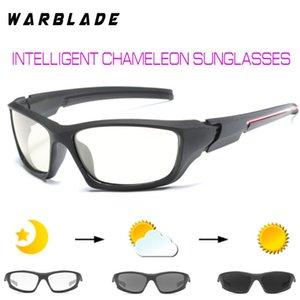 الرجال في الهواء الطلق لتعليم قيادة السيارات صيد النظارات الشمسية الانتقالية عدسة النظارات الشمسية المستقطبة HD اللونية WBL
