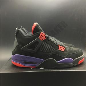 2020 Raptors NRG Jumpman 4s preto roxo Shoes Man basquete 4 UN OG couro real Outdoor Sneakers Com Box AQ3816-056