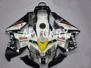 4 Free Gifts High quality New ABS Motorcycle fairings kit fit for Honda CBR600RR F5 2003 2004 Custom White Black Cool (Injection mold)
