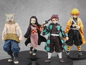Kimetsu Hiçbir Yaiba Şekil Tanjirou Nezuko Inosuke Heykelcik Anime Demon Slayer Action Figure Şeytan Blade Rakamlar Model Oyuncaklar 16 cm