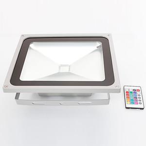 Luci Proiettori 50W IP65 RGB impermeabile in lega di alluminio a LED inondazione con telecomando di memoria (CA 90-260V) Gr-L