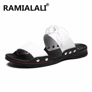 New Summer Men Leather Sandals Casual Shoes Men Outdoor Beach Sandals Roman Summer Mens Water Slippers Shoes x0a7#