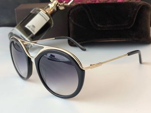 0605 نظارات جديدة فاخر مصمم أزياء المرأة العلامة التجارية الشعبية ريترو ستايل حماية عدسة جولة الإطار أعلى جودة مجانية تأتي مع حزمة