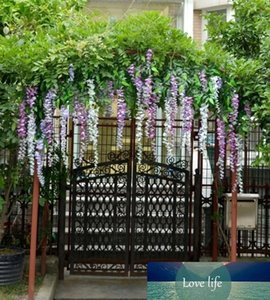 Noble 1.1m artificial Vine Plants Silk Flowers Decorative Flower Wisteria Vine Rattan Home Garden Hotel Wedding Decoration