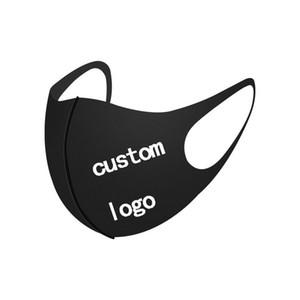 DIY Ağız Siyah Custom Made Yüz Bisiklet Kamp Seyahat Yıkanabilir için logo Anti Toz Yüz Pamuk Ağız Maske Maske Maske