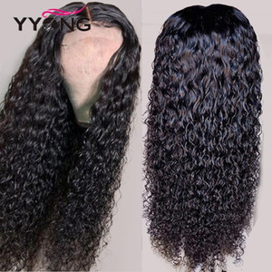 Yyong 1x4 I Part Human Hair Lace Wigs Water Wave 4x4 Lace Closure Wig With Baby Hair Remy Human Wigs 8- 32inch