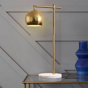 Современный Креативный Gold Marble базы Настольная лампа Nordic Главная Тумбочка Спальня украшения Art стол светильник