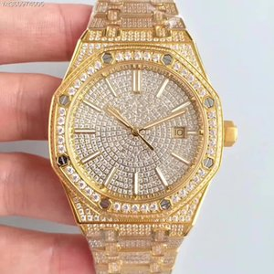 JF High quality mens watches diamond watch 15400 montre Cal.3120 ultra-thin automatic watch men machine movement 41mm montre de luxe