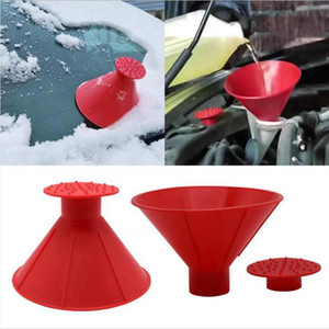 Funnel Ice Scraper Car Windshield Snow Scraper Outdoor Magic Shovel Cone Big Horn Shape Winter Car Tool Sea Shipping DDA582