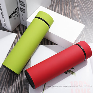 500ML Stainless Steel Thermoses Double Walled Vacuum Sports Water Bottle Portable Travel Coffee Mug Vacuum Flask Drinking Cup