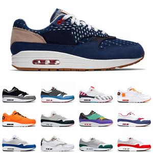 1 x Atmos Sapatos de marca Atmos 1 s Mens Running Shoes 87 Formadores 87 s OG Aniversário Leopard O Que O Esporte Designer Tênis Tamanho 36-45 Frete Grátis