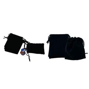 حزمة من 100 حقائب المخملية صالح الحقائب مجوهرات الزفاف تغليف أكياس هدية